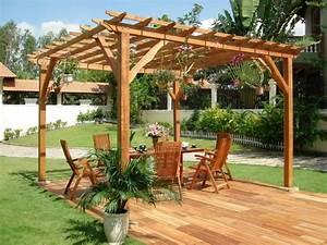 Holz Pergola Bauen Fr Abwechslung Romantik Und Komfort