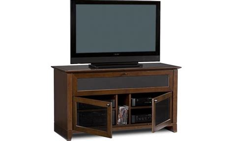 kitchen cabinet with doors bdi novia series 8428 cherry audio cabinet at 8428