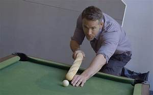 PsBattle: Ryan Reynolds - Playing Pool with a Baguette ...
