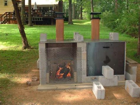 Smoker Pit Made From Cinder Blocks