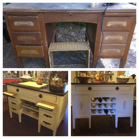 kitchen island materials 1950 s s desk made into a beautiful kitchen island 1950