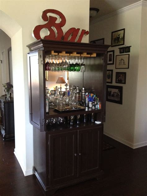 Home Bar Makeover by Repurposed Tv Cabinet Would To This In My Home