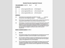 Novation Agreement Template Uk - kalentri 2018