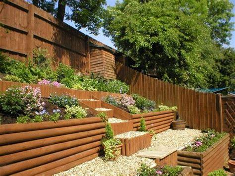 sloping garden ideas  beeanddave
