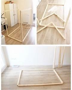 Lit Cabane Au Sol : diy lit cabane chambre enfants pinterest cabanes ~ Premium-room.com Idées de Décoration