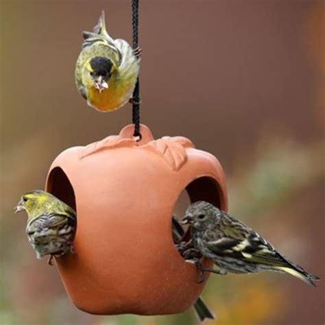 apple bird feeder weston mill pottery uk