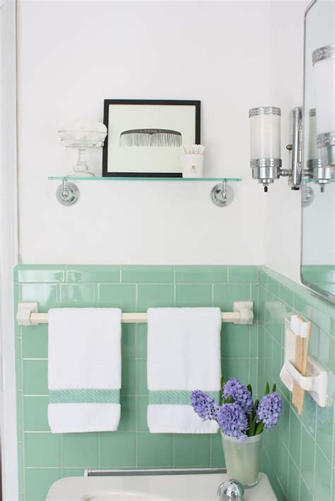 kitchen tiled walls ideas vintage bathrooms my mint pink bathroom the inspired