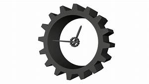 3D gear clock 12-hour time lapse. Loopable footage. Png ...