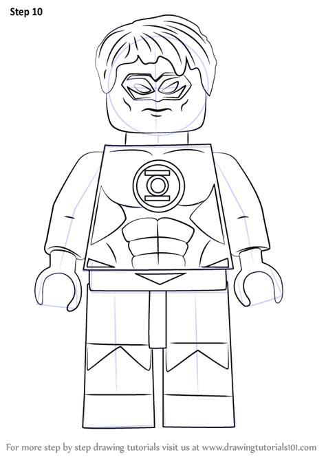 learn   draw lego green lantern aka hal jordan lego
