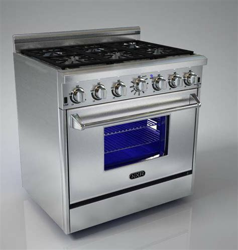 Hyxion Brand Best 36 Inch Stainless Steel Gas Range With