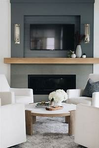 Dark, Fireplace, With, Wooden, Mantle
