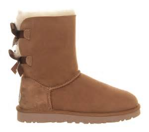 womens ugg boots with bows on the back ugg bailey bow calf boots in brown chestnut lyst