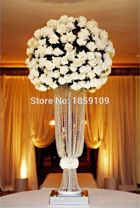 Tall Flower Stands For Centerpieces popular crystal wedding centerpiece buy cheap crystal