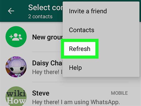 import contacts  whatsapp  android  steps