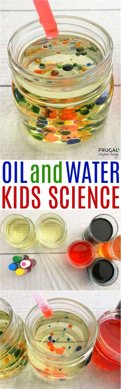 kids science experiments  home oil  water experiment
