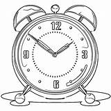 Clock Alarm Coloring Printable Clip Cartoonized Pages Wecoloringpage sketch template