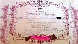 certificat mariage mariage certificat de mariage humour