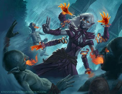 Dark Elf Magic By Johnnymorrow On Deviantart