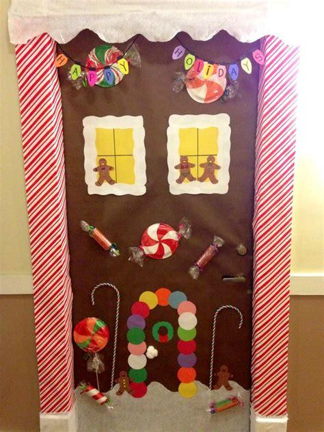 gingerbread house door decor holidays stuff pinterest