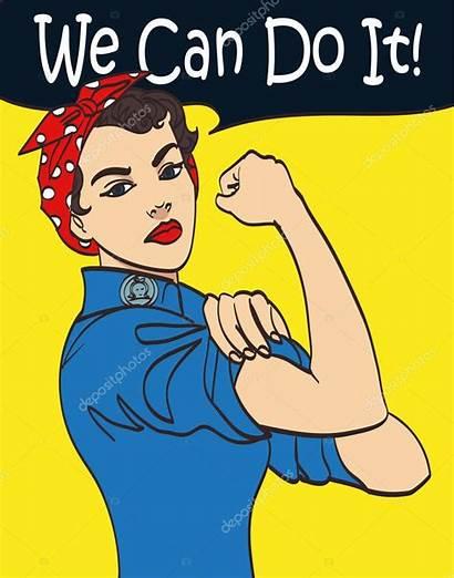 Cartoon Power Woman Fist Symbol Vector Illustration