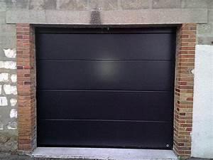 Porte De Garage Gris Anthracite : porte de garage sur mesure porte de garage acier et alu sens 89 ~ Melissatoandfro.com Idées de Décoration