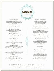 French restaurant menu design for French cafe menu template