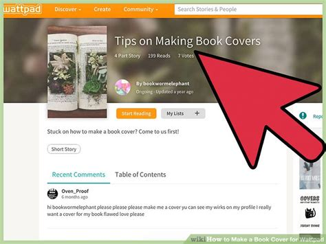 how to design a book cover 4 ways to make a book cover for wattpad wikihow