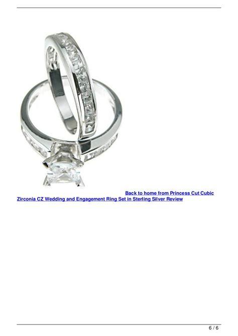 princess cut cubic zirconia cz wedding and engagement ring
