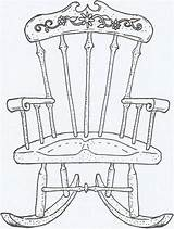Chair Rocking Coloring Drawing Pages Sheets Lounge Uploaded User Chairs Stamps sketch template