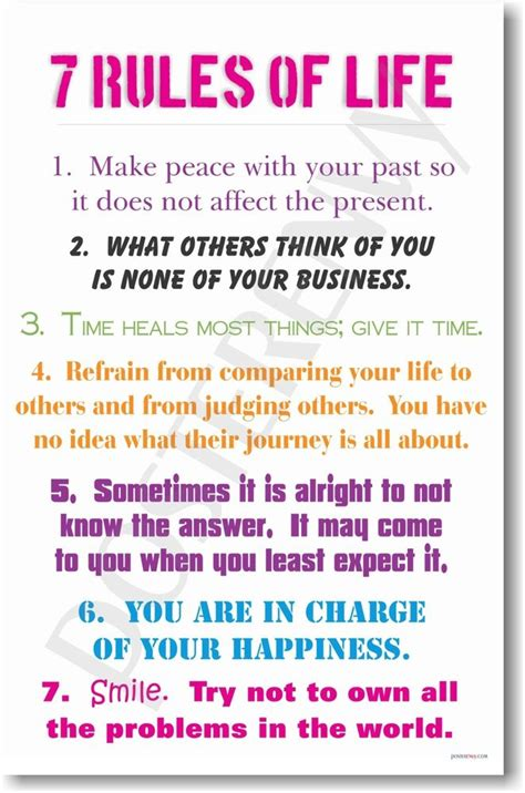 7 Rules Of Life  New Classroom Motivational Poster Ebay