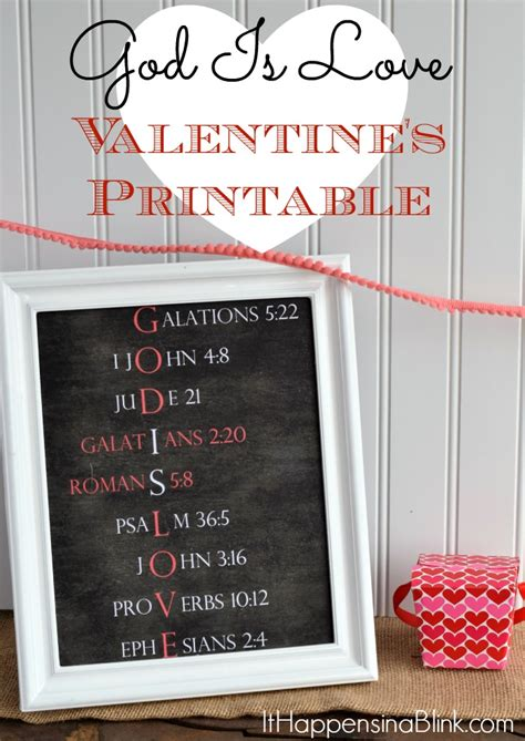 God Is Love Valentines Day Printable