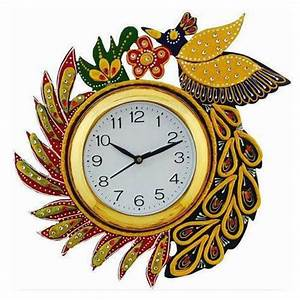 Wooden, Satrangi, Fancy, Wall, Clock, For, Home, Office, Rs, 385, Piece
