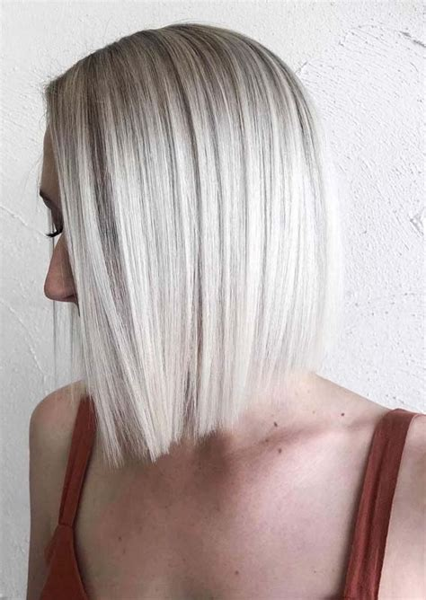 fresh ice blonde hair color trends  woman
