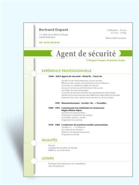Cv Exemplaires by Exemple Cv De S 233 Curit 233 Laboite Cv Fr
