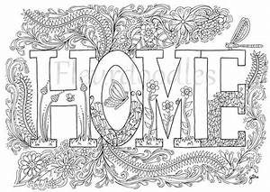 Herzlich Willkommen Bilder Zum Ausdrucken : malseite zum ausdrucken sweet home von fleurdoodles auf etsy ~ Eleganceandgraceweddings.com Haus und Dekorationen