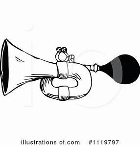 Horn Instrument Clip Art Black And White Pictures to Pin ...