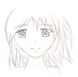 Anime Girl Face Drawing