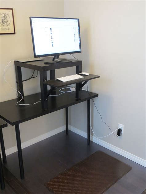working  ikea stand  desk face  job powerfully