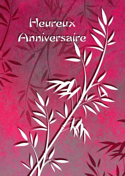 carte heureux anniversaire bambou envoyer une carte