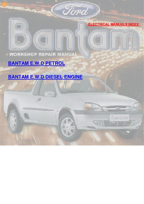 Ford Bantam Wiring Diagrams Service Manual Download