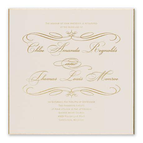 gold finish foil invitation invitations  dawn