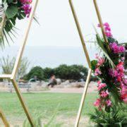hexagon arch wedding party rentals  sales  san