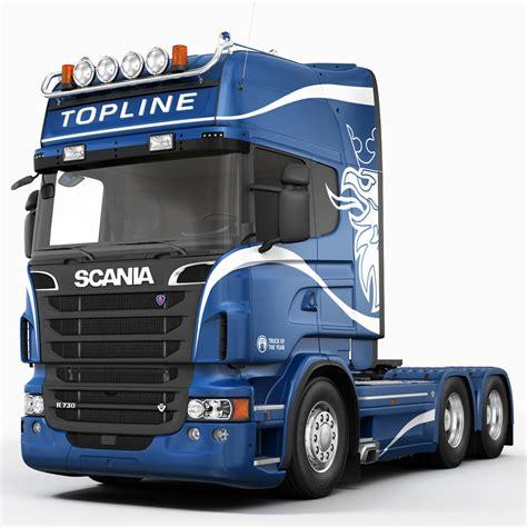 scania trucks 3d scania r730 6x4 model