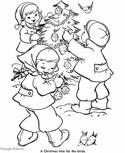 Coloring Christmas Pages Tree Decorate Decorations Trees