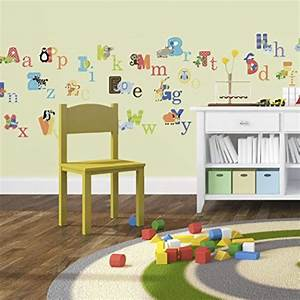 animal alphabet baby nursery peel andstick wall art With best brand of paint for kitchen cabinets with wall sticker letters removable