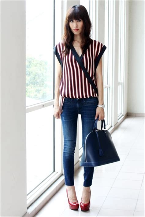navy zara jeans blue leather alma louis vuitton bags  oriental touch  stilettoediva
