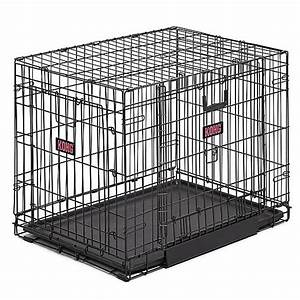 kongr space saving double door pet crate dog carriers With petsmart dog cages and crates