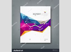 Cover Report Colorful Geometric Shapes Infographic Stock