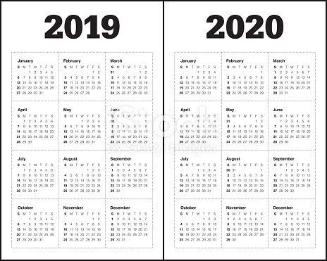 year calendar vector design template stock vector art