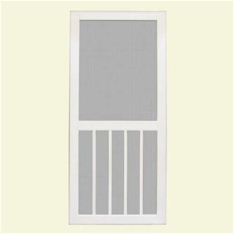 vinyl screen doors unique home designs 36 in x 80 in geneva white outswing